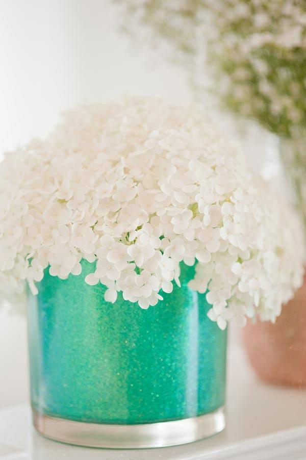 diy ideen bastelideen pastellfarben vasen glasvase glitter farbe