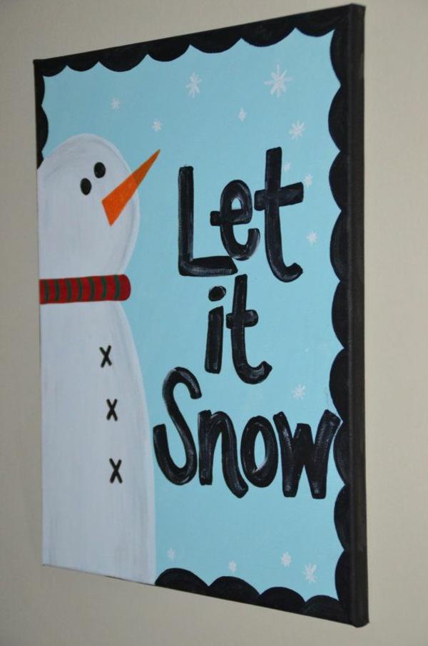 moderne Leinwandbilder selber gestalten druck schnee winter