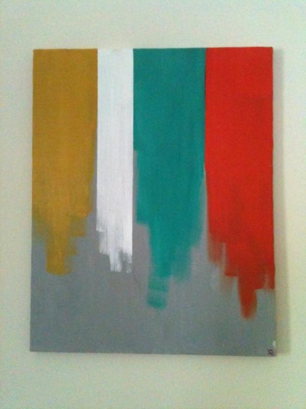 diy moderne Leinwandbilder farben
