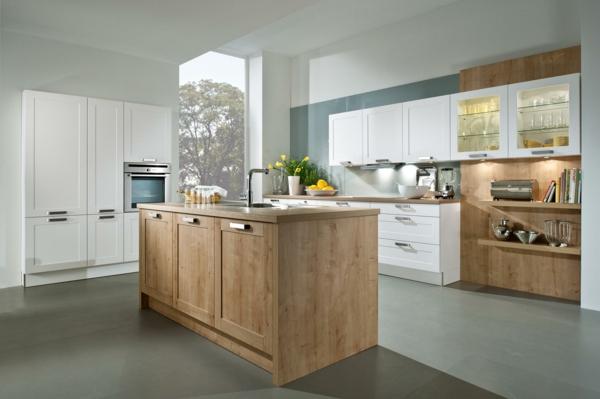 einbauküchen buchenholz kücheninsel