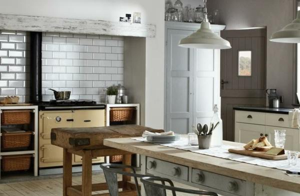 einbauküche essbereich shabby chic