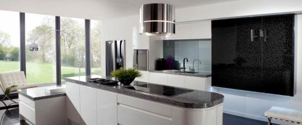 einbauküchen kücheninsel bogenlampe barcelona sessel