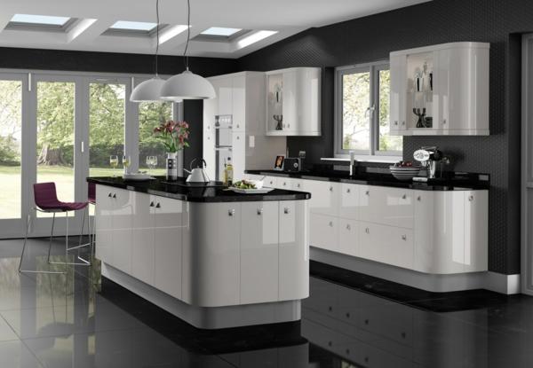 Küche Fliesen Schwarz Weiß ~  küche schwarz weiß fliesen Küche Schwarz Weiß ; Küche Schwarz