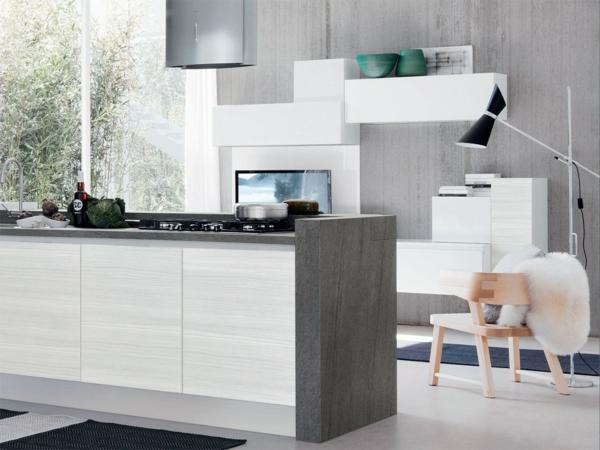 einbauküchen kochinsel minimalistisch