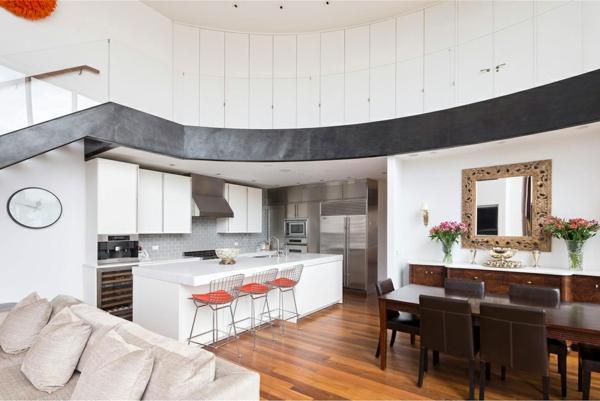 einbauküchen metallene barhocker stühle leder