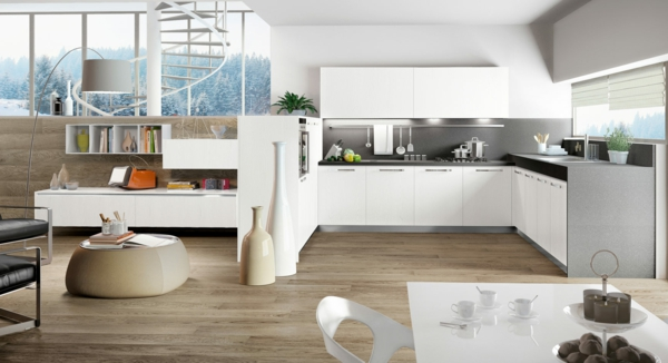 einbauküchen polarweiß retro