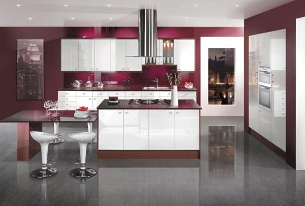 einbauküchen violett