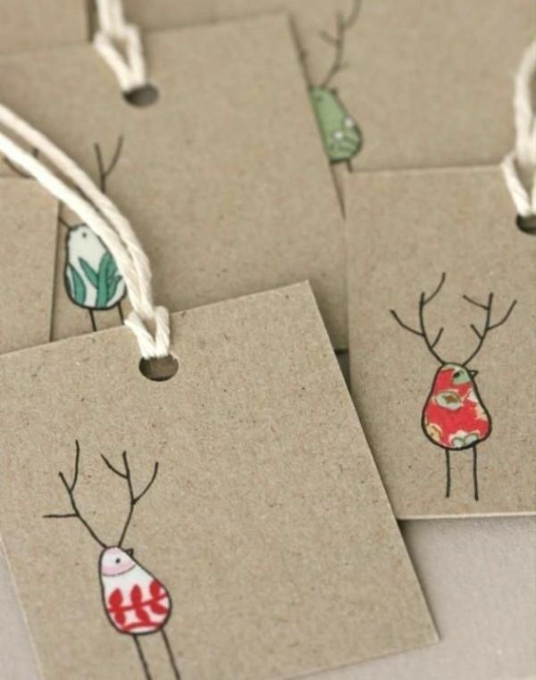 Weihnachtskarten Mit Fingerabdruck.1001 Schöne Weihnachtskarten Selber Basteln