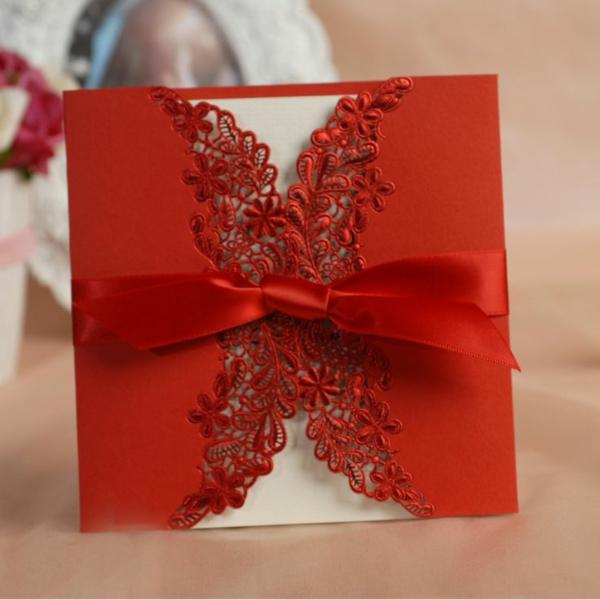 einladungskarten für hochzeit geburtstag rot romantisch