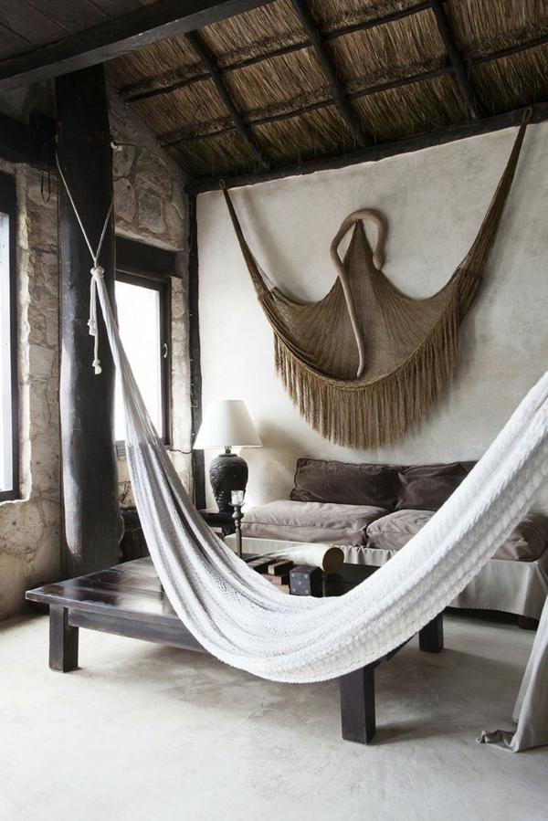 einrichtungsideen landhausstil wohnzimmer rustikale mbel hngematten - Landhausstil Wohnzimmer