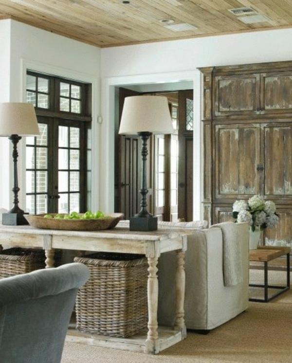 einrichtungsideen wohnzimmer rustikal wohnzimmermöbel holz