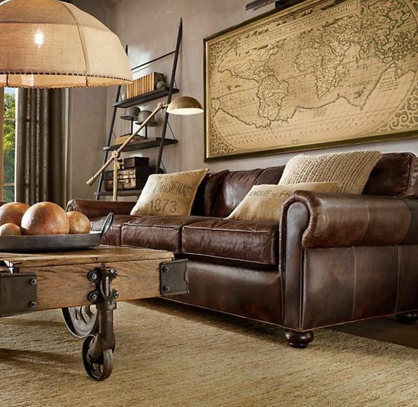 Wohnzimmer Ideen wohnzimmer ideen rustikal : Das Wohnzimmer rustikal einrichten - ist der Landhausstil angesagt?