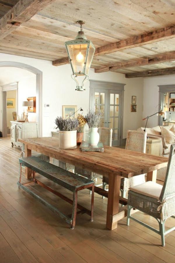 einrichtungsideen wohnzimmer rustikal wohnzimmermöbel offener wohnraum esszimmer