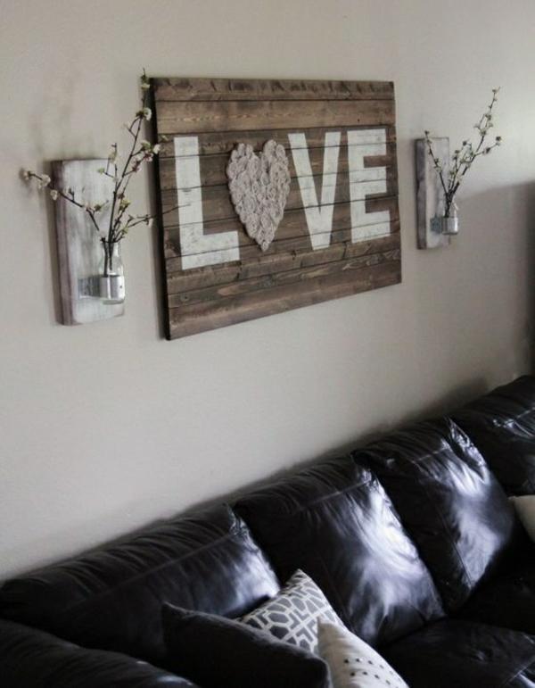 einrichtungsideen wohnzimmer rustikal wohnzimmermöbel wandideen wanddeko