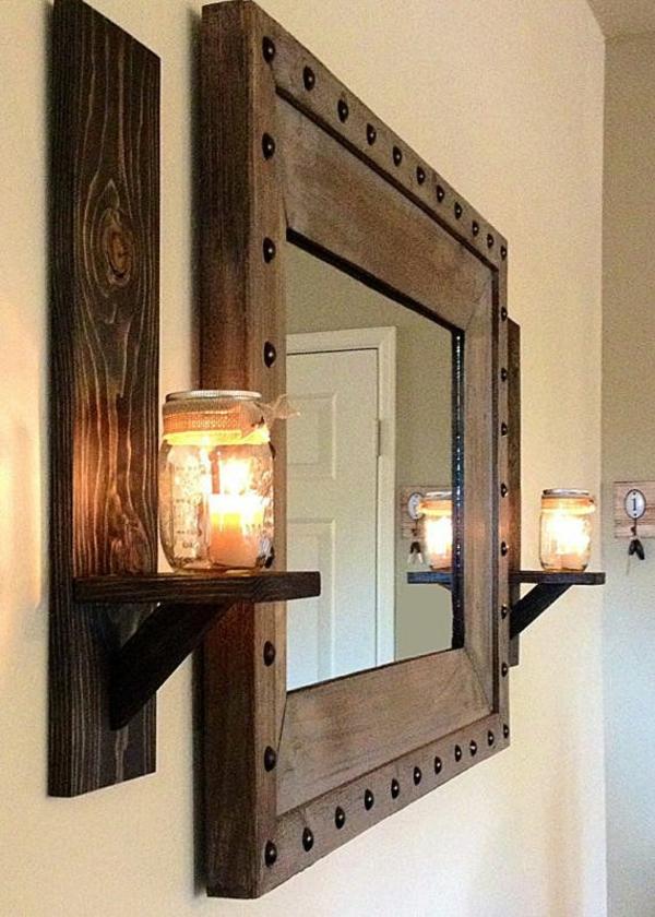 Das wohnzimmer rustikal einrichten ist der landhausstil for Wandspiegel wohnzimmer