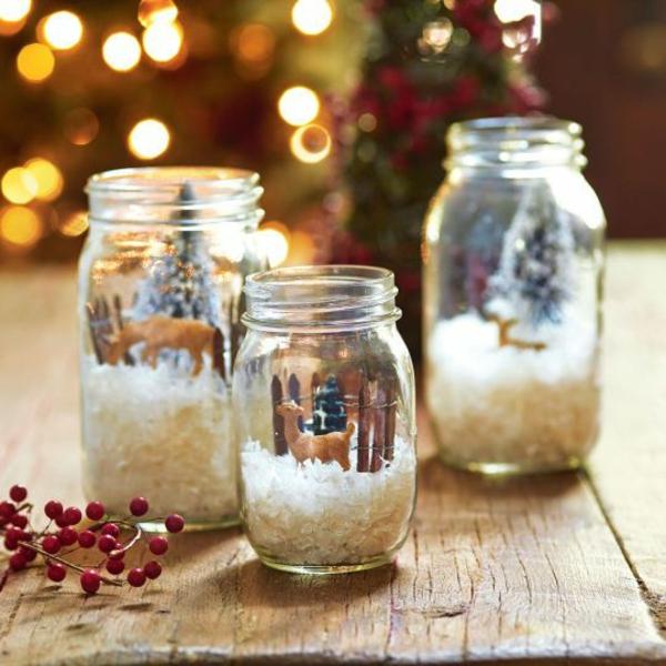 einweckgläser deko ideen weihnachtsbastelideen weihnachtsdekoration basteln