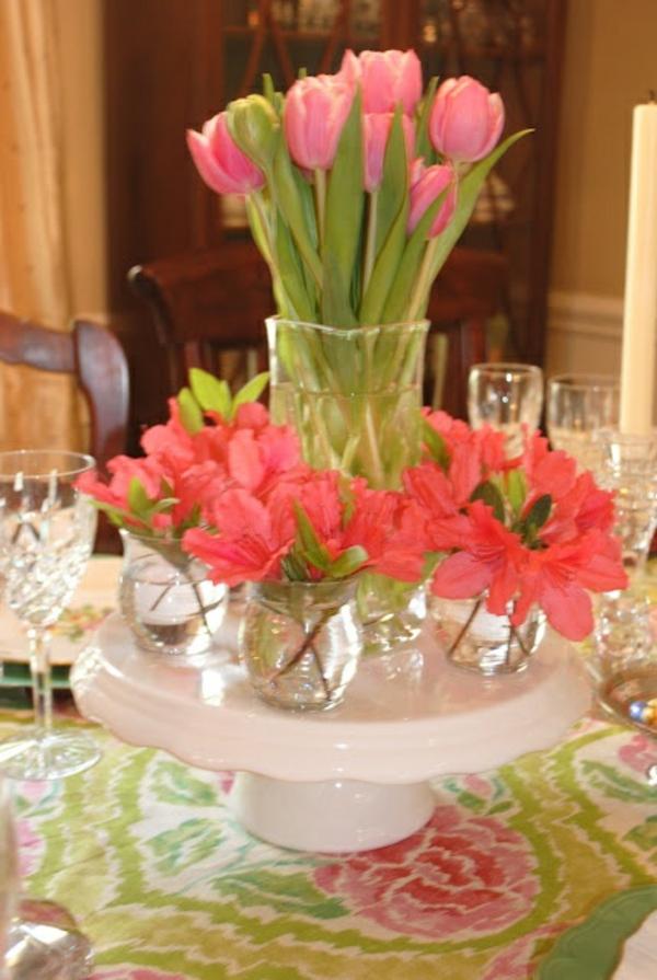 elegante tischdeko ideen mit tulpen festliche tischdekoration