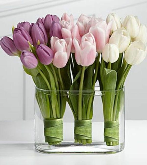tischdeko mit tulpen - festliche tischdeko ideen mit frühligsblumen, Garten ideen