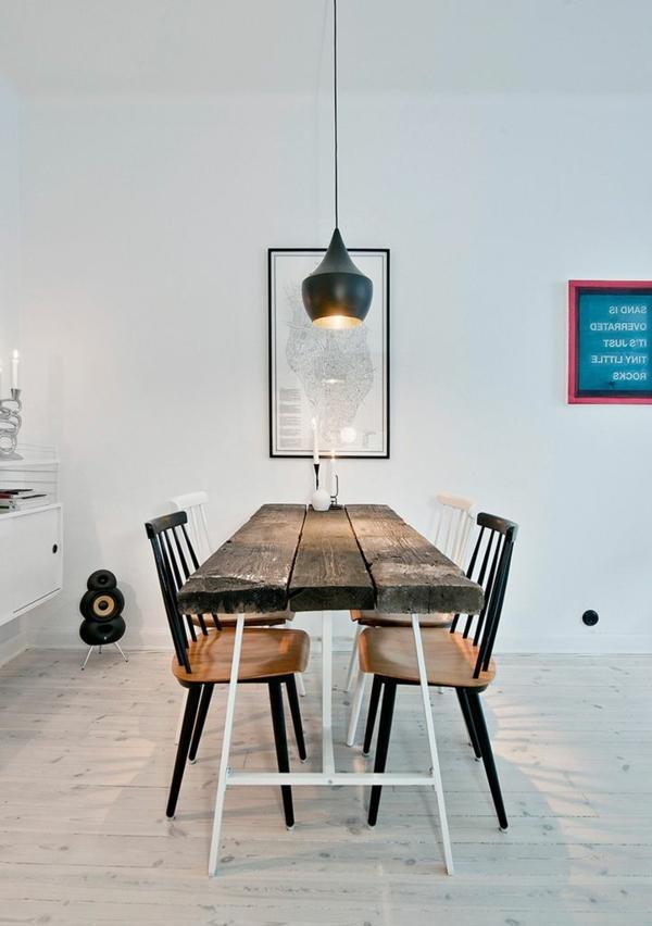 Esszimmer Einrichten Tom Dixon Esszimmertisch Mit Stühlen Pendelleuchten