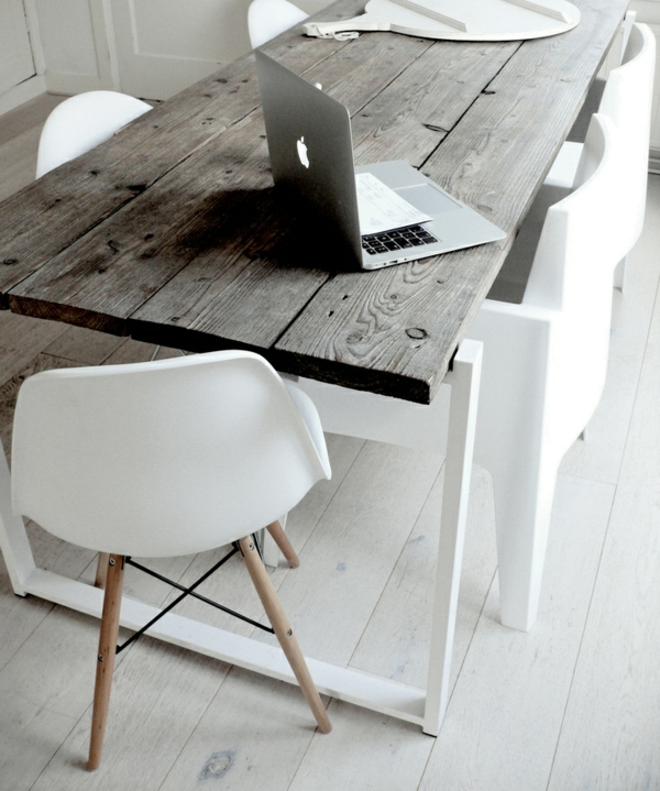 esszimmer möbel skandinavisches design holz esszimmertisch mit stühlen eames