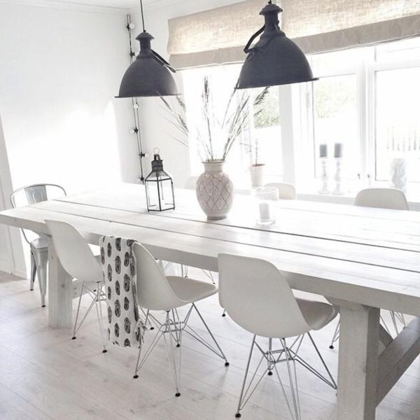 Pendelleuchten esszimmer diese geh ren zu den coolsten wohnaccessoires - Tafel eetkamer hout wit ...
