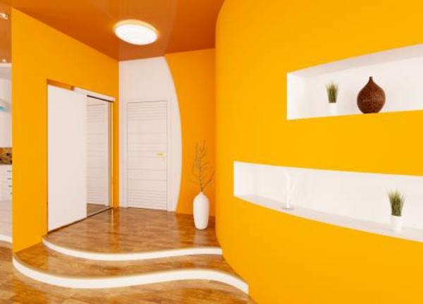 Farbliche Wandgestaltung Beispiele: Ratschläge Und Beispiele In Gelb