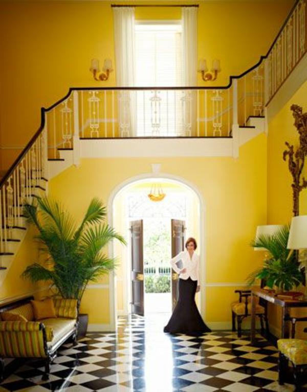Farbgestaltung flur ratschl ge und beispiele in gelb for Nagellack treppe