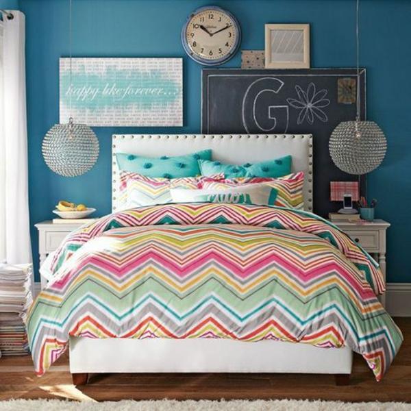 Schlafzimmer Petrol Blau : schlafzimmer blau gelb