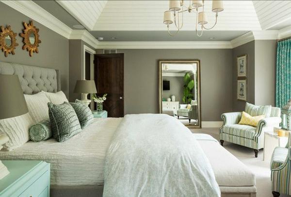 Fesselnd Schlafzimmer Wandfarbe Mint