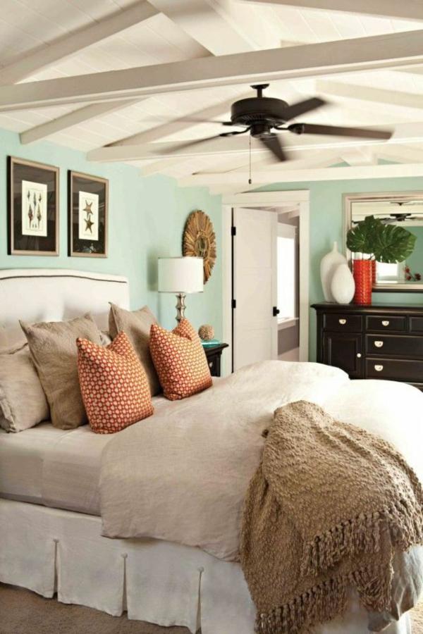 farbgideen schlafzimmer wandgestaltung schlafzimmer wandfarbe mintgrün