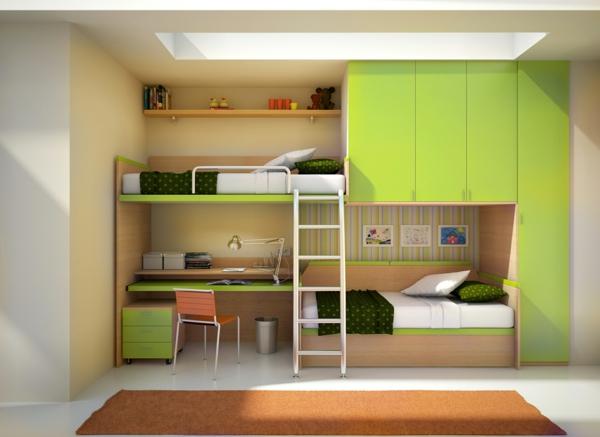 farbideen wohnzimmer apfelgrün kinderzimmer etagenbett