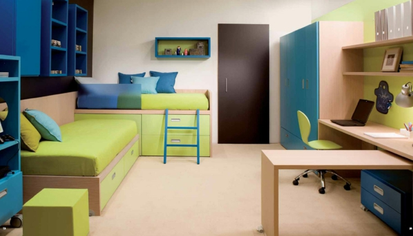 farbidee wohnzimmer blau grün