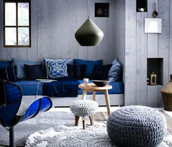 44 Farbide Wohnzimmer Blaue Couch Sessel