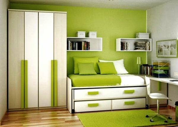 farbideen wohnzimmer grün arbeitszimmer