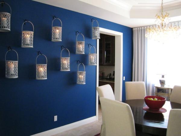 farbideen wohnzimmer hängende metallene laternen