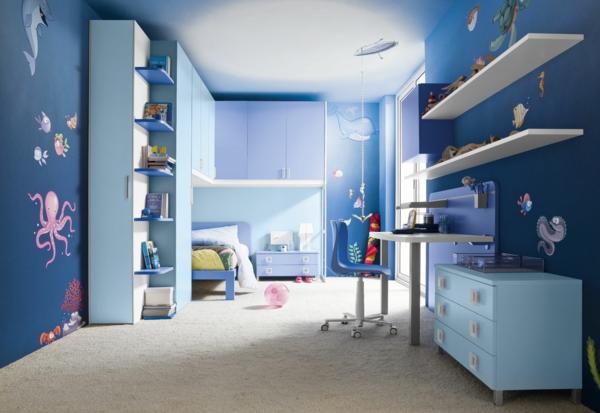 farbidee wohnzimmer kinderzimmer meerestiere