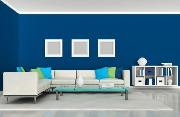Farbideen wohnzimmer trendfarbe greenery beschert frische und entspannung - White and blue in interior design an ideal combination ...