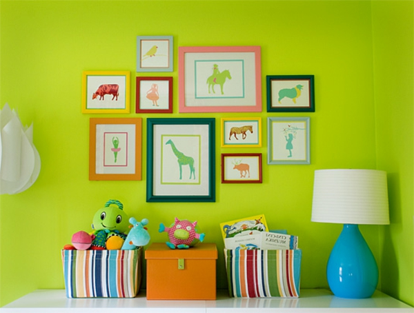 farbideen wohnzimmer neongrün bilder