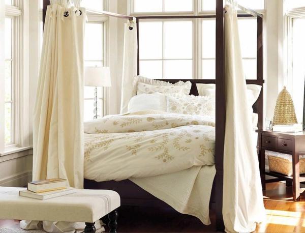 feng shui bett himmelbett baldachin bett schlafzimmer farben weiß