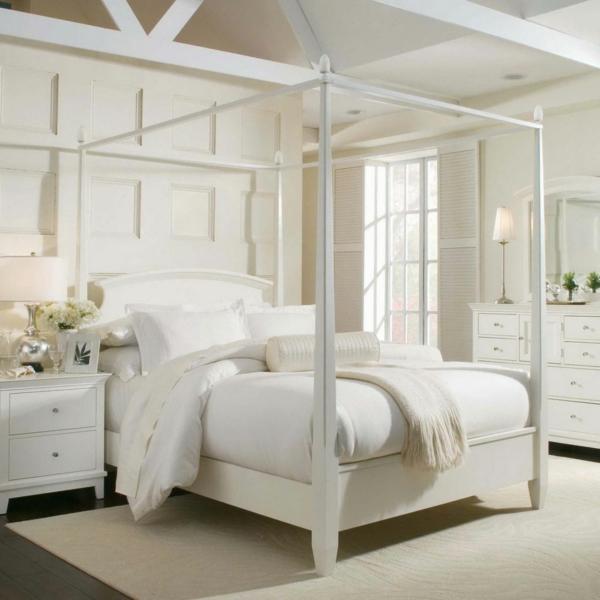 feng shui bett himmelbett schlafzimmer farben weiß