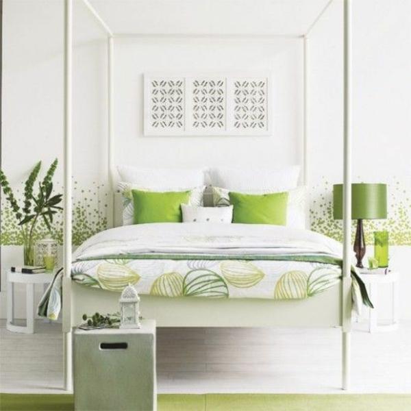 feng shui schlafzimmer einrichten farben grün zimmergrünpflanzen