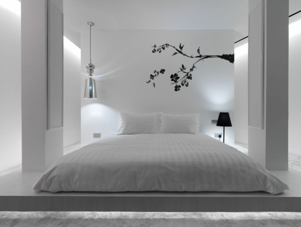 feng shui schlafzimmer einrichten farben weiß