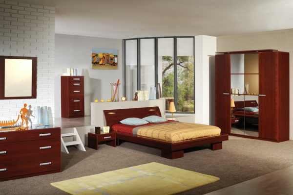 feng shui einrichten schlafzimmer bett holzmöbel