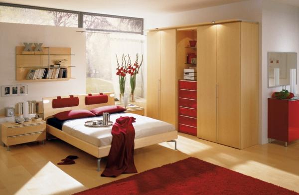feng shui einrichten schlafzimmer bett kleiderschrank