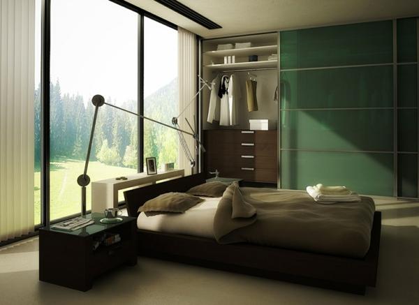feng shui einrichten schlafzimmer kleiderschrank schiebetüren