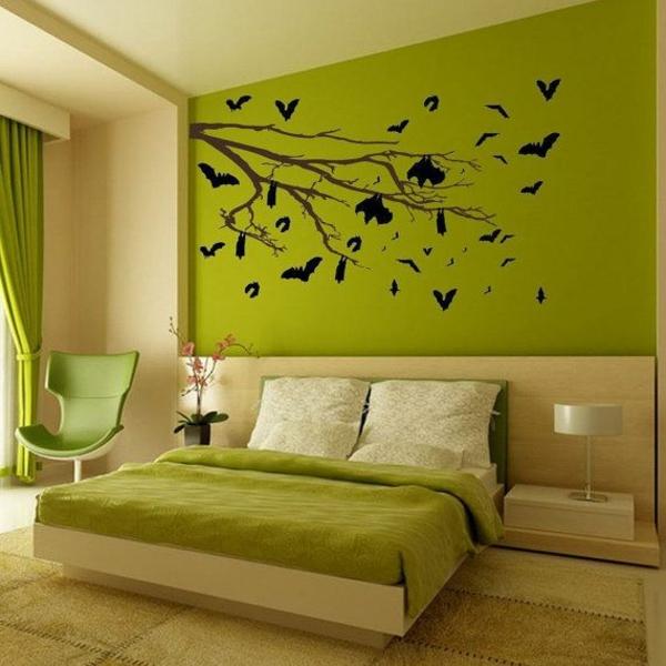 feng shui farben schlafzimmer wandfarbe grün