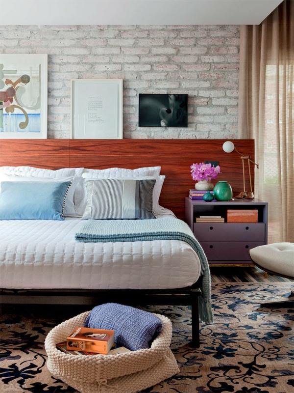 feng shui regeln schlafzimmer einrichten ziegelwand teppichboden