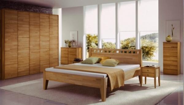 feng shui schlafzimmer einrichten holz möbel bett kleiderschrank