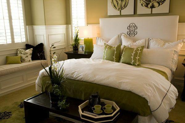 feng shui schlafzimmer einrichten wandfarbe grün