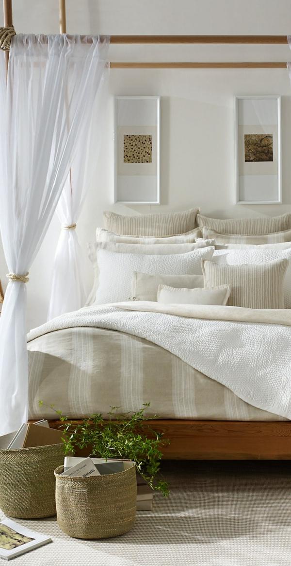feng shui schlafzimmer einrichten farben baldachinbett himmelbett weiß